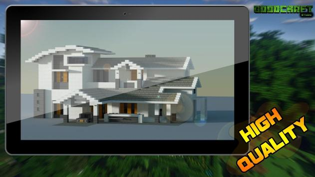 Mansion Modern Ultra Creation Map Pack for MCPE screenshot 3