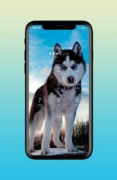 Husky Adorable Pet Siberian Dog App Lock screenshot 1
