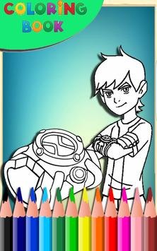 How To Color Ben 10 Alien Coloring Game Poster