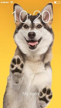 Siberian Huski Screen Lock Dog Phone Lock Security poster