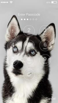 Siberian Huski Screen Lock Dog Phone Lock Security screenshot 1