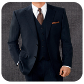 Stylish Man Suit Photo Montage icon