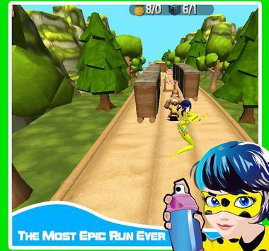 Subway Miraclus Ladybug Adventure Run screenshot 3