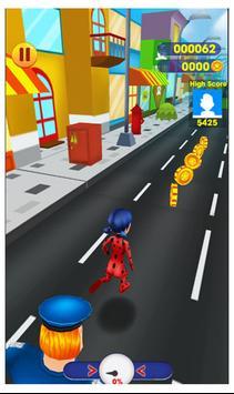 Subway miraclous Adventures Ladybug Run Surfer screenshot 2