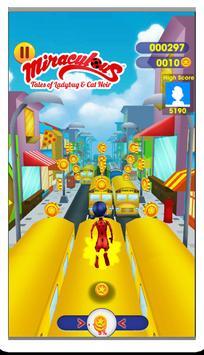 Subway miraclous Adventures Ladybug Run Surfer screenshot 3