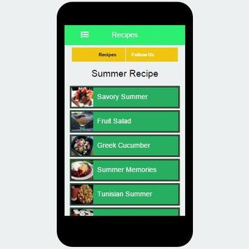 Summer Recipe screenshot 2