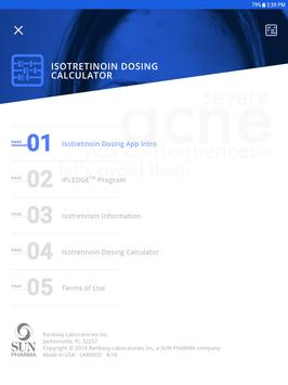 Leave Acne Behind™ Isotretinoin Dosing App screenshot 1