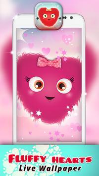 Fluffy Hearts Live Wallpaper apk screenshot
