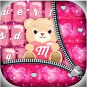 Pink Glitter Keyboard Themes icon