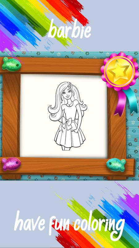 Barbie Coloring Page for Android - APK Download