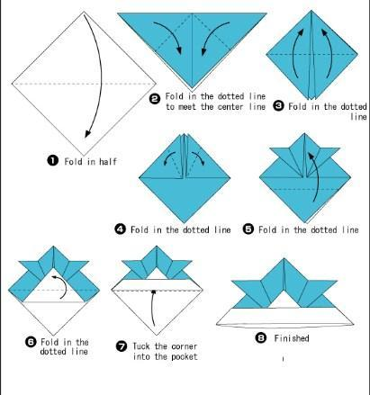 How to Make an Easy Origami Envelope | 439x411