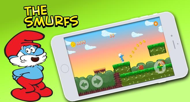 Super Smurf Hero Adventure villages apk screenshot