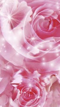 Pink dreams. Flower wallpaper poster