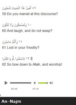 Surah An - Najm Mp3 screenshot 5