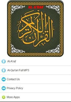 Surah Al A raf MP3 poster