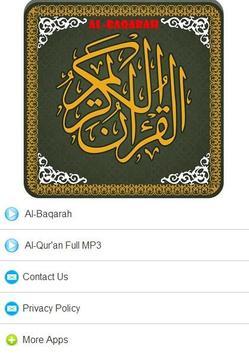 Surah Al Baqarah MP3 screenshot 3