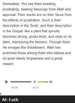 Surah Al - Fath Mp3 screenshot 8