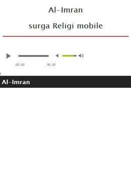 Surah Al Imran MP3 screenshot 7