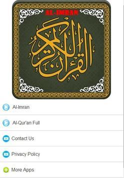 Surah Al Imran MP3 poster