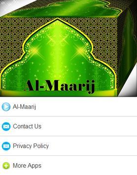 Surah Al - Maarij Mp3 screenshot 6