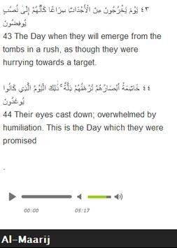 Surah Al - Maarij Mp3 screenshot 8