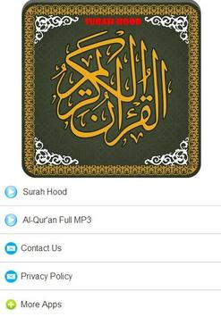 Surah Hood MP3 poster