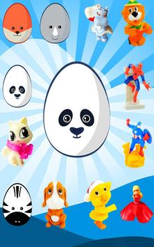 Surprise Eggs - Learn Animals poster