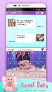Sweet Baby Pic Keyboard Theme apk screenshot