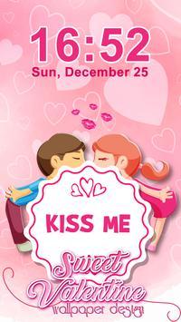 Sweet Valentine Wallpaper Design poster