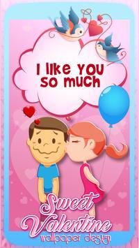 Sweet Valentine Wallpaper Design apk screenshot