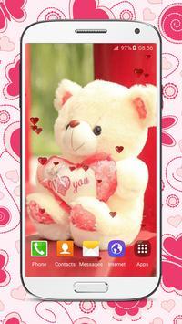 Sweet Teddy Bear Wallpaper poster