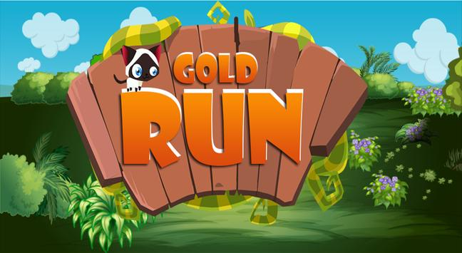 Gold run & running poster