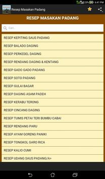 Resep Masakan Padang apk screenshot