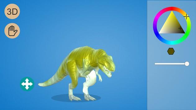Dinosaur 3D Coloring screenshot 1