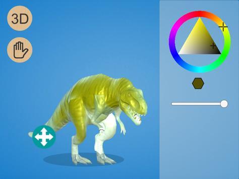 Dinosaur 3D Coloring screenshot 5