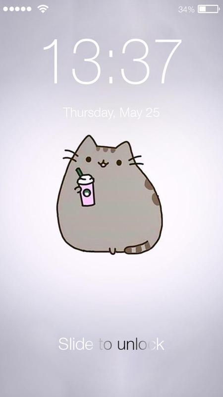 Pusheen Cat Kawaii Cute Wallpaper Pin Lock Screen For Android Apk