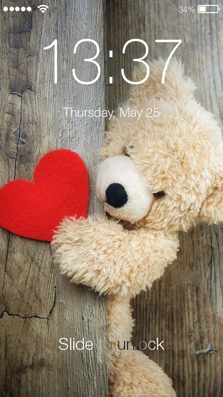 Teddy Bear Gallery Wallpaper Phone Pin Lock Screen Fur