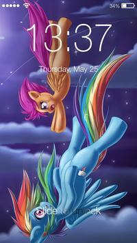 Rainbow Pony Princess Wallpapers PIN Lock Screen screenshot 2