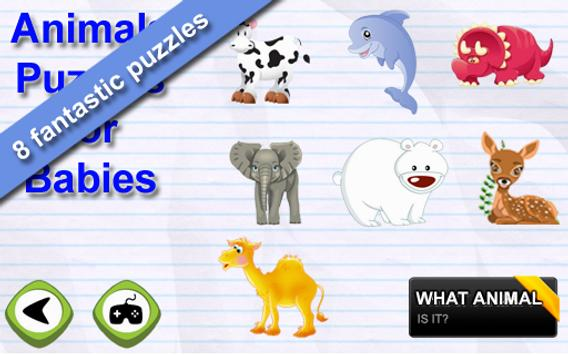 Animals Puzzles for Toddlers poster