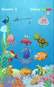 Fishing the Fishes Kids Game apk screenshot
