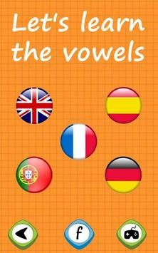 Learn the vowels for toddlers apk screenshot