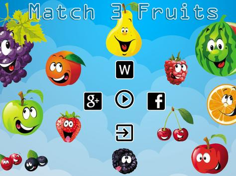 Match 3 Fruits Puzzle Game poster