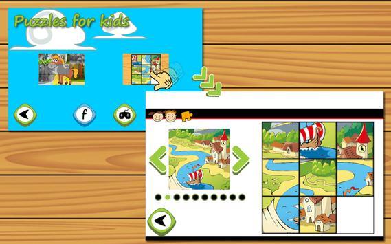 Animal Puzzles for kids free apk screenshot