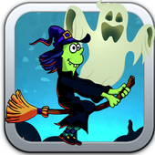 Game Witch and Ghost icon
