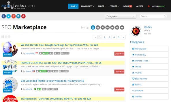 SEO Services by SEOClerks apk screenshot