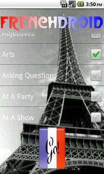 French Droid FlashCards  Free screenshot 3
