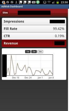 AdMob Dashboard apk screenshot