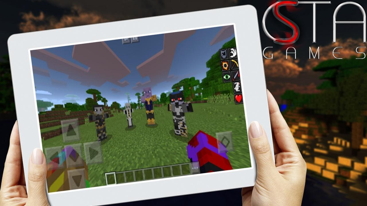 avengers infinity war mod for minecraft pe for android