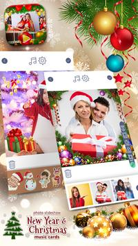 Photo Slideshow - New Year & Christmas Music Cards poster
