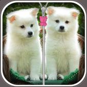Cute Puppy Zip Screen Lock icon